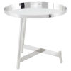 This item: Landon Polished Silver Side Table