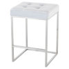 This item: Chi Ice Blue and Silver Counter Stool