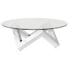 This item: Como Polished Silver Coffee Table