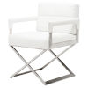 This item: Jack White and SIlver Dining Chair