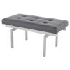 This item: Louve Gray and Silver Bench