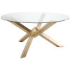 This item: Costa Brushed Gold Dining Table