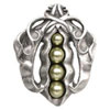 This item: Antique Pewter Pearly Peapod Knob