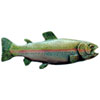 This item: Hand-Tinted Antique Pewter (Left Side/Faces Right) Rainbow Trout Pull