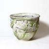 This item: White Moss Fiberstone Cherub and Garland Urn