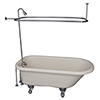 This item: Polished Chrome Tub Kit 60-Inch Acrylic Roll Top, Shower Unit, Supplies, and Drain