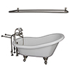 This item: Brushed Nickel Tub Kit 60-Inch Acrylic Slipper, Shower Rod, Filler, Supplies, and Drain