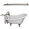 This item: Brushed Nickel Tub Kit 67-Inch Acrylic Slipper, FillerShw Rd, Supplies, and Drain