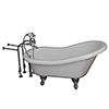 This item: Polished Chrome Tub Kit 67-Inch Acrylic Slipper, Tub Filler, Supplies, and Drain