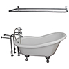 This item: Polished Chrome Tub Kit 67-Inch Acrylic Slipper, Filler, Shwr Rod, Supplies, and Drain