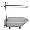 This item: Brushed Nickel Tub Kit 60-Inch Acrylic Roll Top, Shower Unit, Supplies, and Drain