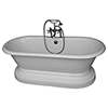 This item: Brushed Nickel Tub Kit 67-Inch Cast Iron Double Roll Top Base, Filler, Supplies, and Drain