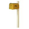 This item: Dylan Yellow Curbside Mailbox and Post