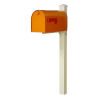 This item: Rigby Orange Curbside Mailbox and Post
