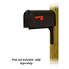 This item: Curbside Black Standard Steel Mailbox with Ashley Front Single Mounting Bracket