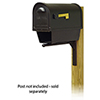 This item: Curbside Black Nine-Inch Classic Mailbox with Newspaper Tube and Ashely Front Single Mounting Bracket