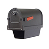 This item: Curbside Black 10-Inch Savannah Mailbox with Newspaper Tube and Baldwin Front Single Mounting Bracket