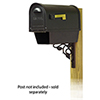 This item: Curbside Black Classic Mailbox with Newspaper Tube and Floral Front Single Mounting Bracket
