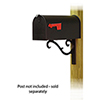 This item: Curbside Black Standard Steel Mailbox with Sorrento Front Single Mounting Bracket