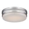 This item: Vie Brushed Nickel 14-Inch 3500K LED Flush Mount