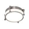This item: Wright Brushed Nickel 10-Inch LED Flush Mount