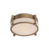 This item: Wright Aged Brass 14-Inch LED Flush Mount