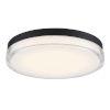 This item: Dot Black 15-Inch 3500K LED Outdoor Flush Mount
