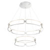 This item: Charmed Brushed Nickel 32-Inch Two-Ring LED Chandelier