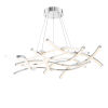 This item: Divergence Chrome 44-Inch LED Chandelier
