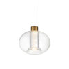 This item: Crater Aged Brass LED Mini Pendant