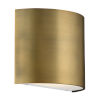 This item: Pocket Aged Brass Three-Inch LED Wall Sconce