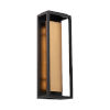 This item: Hathaway Black and Aged Brass 18-Inch LED Outdoor Wall Light