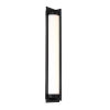 This item: Oberon Black Four-Inch LED Outdoor Wall Sconce