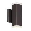 This item: Block Bronze Four-Inch 3000K Two-Light LED Outdoor Wall Sconce