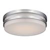 This item: Vie Chrome LED Flush Mount with Blown Triplex Glass
