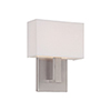 This item: Manhattan Brushed Nickel 7-Inch LED Wall Sconce with Trimless Fabric Shade