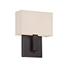 This item: Manhattan Brushed Bronze 7-Inch LED Wall Sconce with Trimless Fabric Shade