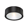 This item: Tube Black One-Light LED Outdoor Flush Mount