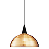 This item: Felis J Series Black Mini Pendant with Cone Socket and Copper Shade