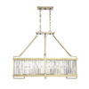 This item: Cologne Noble Brass Eight-Light Linear Chandelier