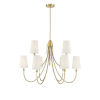 This item: Cameron Warm Brass Nine-Light Chandelier