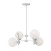 This item: Medina Satin Nickel Four-Light Chandelier