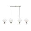 This item: Medina Satin Nickel Six-Light Linear Chandelier
