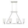 This item: Vaughan Satin Nickel Six-Light Linear Chandelier