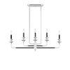 This item: Davidson Black and Chrome Five-Light Linear Chandelier