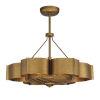 This item: Stockholm Gold Patina Six-Light LED Fandelier
