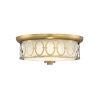 This item: Sherrill Warm Brass LED Flush Mount