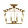This item: Townsend Warm Brass Four-Light Semi-Flush