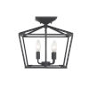 This item: Townsend Matte Black Four-Light Semi-Flush