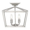 This item: Townsend Satin Nickel Four-Light Semi-Flush